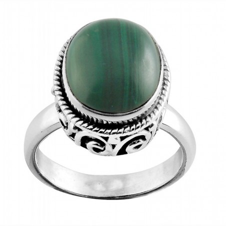 Handcrafted Malachite Gemstone Rings