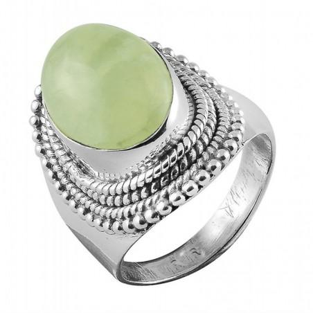 Elegant style Prenite Gemstone Rings