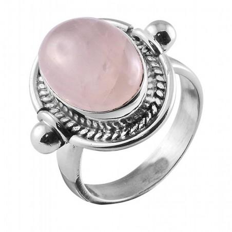Artisan Crafted Handmade Rose Quartz Gemstone Rings