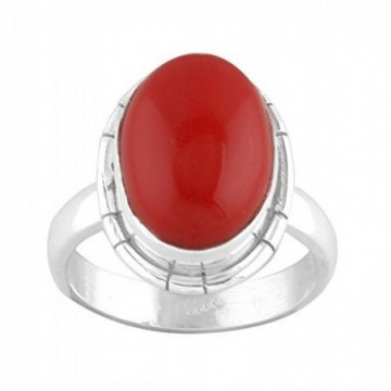 Handcrafted Red Onyx Gemstone Rings