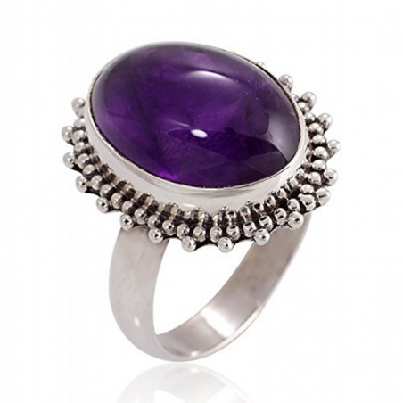 Elegant style Amethyst Gemstone Rings