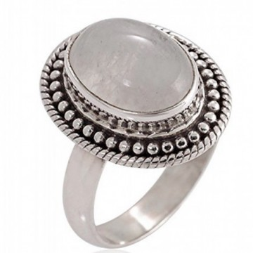 Artisan Crafted Rainbow Moonstone Gemstone Rings
