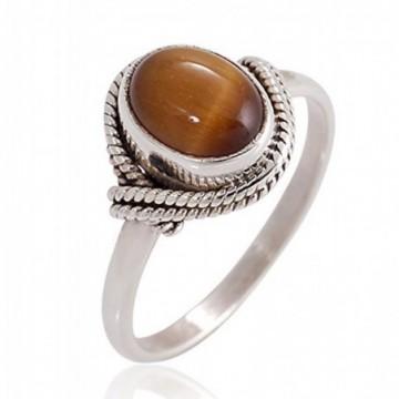 Elegant style Tiger Eye Gemstone Rings