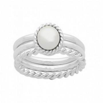 Elegant style Pearl Gemstone Rings