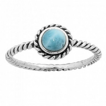 Artisan Crafted Larimar Gemstone Rings