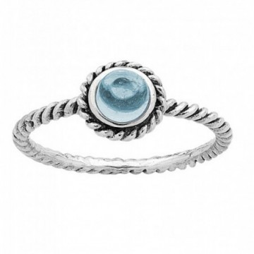Beautiful Blue Topaz Gemstone Rings