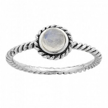 Beautiful Rainbow Moonstone Gemstone Rings