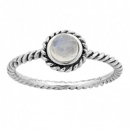 Beautiful Rainbow Moonstone Gemstone Rings