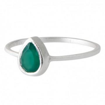 Elegant style Green Onyx Gemstone Rings