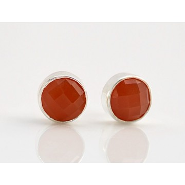 Handmade Caroline Gemstone Cut Stone Studs Earrings