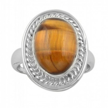 Elegant style Tiger Eye Gemstone Rings