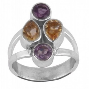 Beautiful Amethyst & Citrine Gemstone Rings