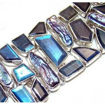 Bracelet with Citrine Faceted Gemstones