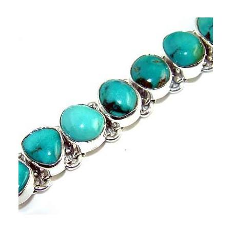 Bracelet with Turquoise Gemstones
