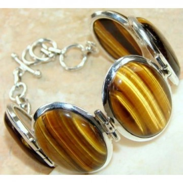 Bracelet with Tiger'S Eye Gemstones