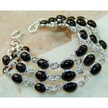 Bracelet with Onyx Gemstones
