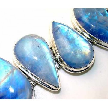 Bracelet with Blue Moonstone Gemstones
