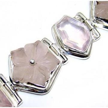 Bracelet with Rose Quartz Gemstones