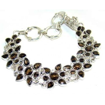 Bracelet with Smokey Quartz Gemstones