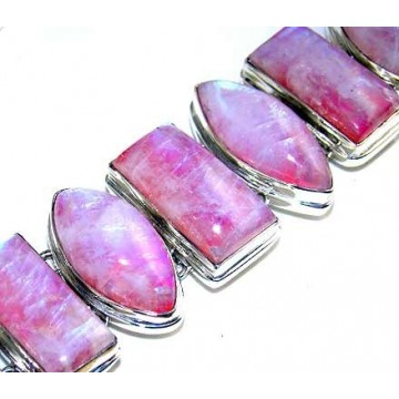 Bracelet with Pink Moonstone Gemstones