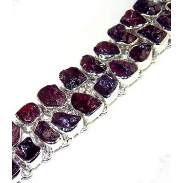 Bracelet with Amethyst Rough Gemstones