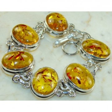 Bracelet with Amber Gemstones