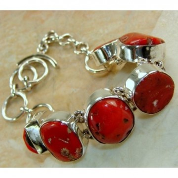 Bracelet with Coral Gemstones
